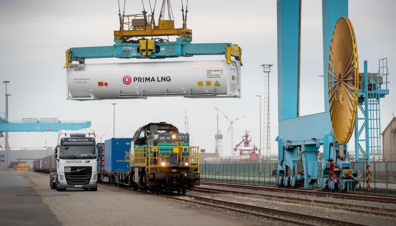 Voor het eerst ook LNG per spoor in haven van Zeebrugge