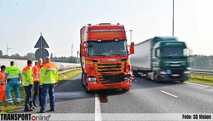 Aanrijding met twee vrachtwagens op A16 [+foto]