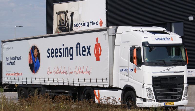 Mooie Volvo FH voor Seesing Flex Leert!