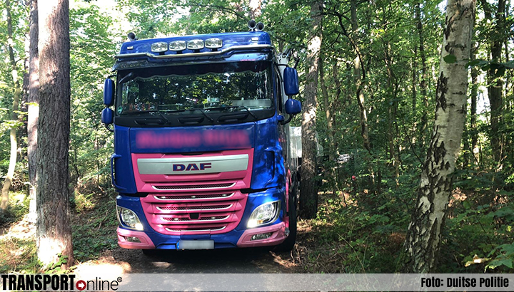 Vrachtwagenchauffeur rijdt schade aan bomen, fietspad en bruggetje [+foto]