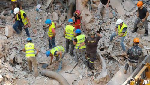 Reddingswerkers Beiroet: geen teken van leven meer