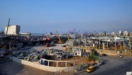 Leger Libanon vindt ammoniumnitraat bij haven Beiroet