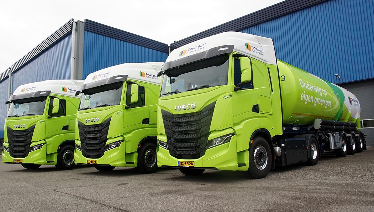Drie nieuwe IVECO S-WAY NP's op honderd procent BIO-CNG voor Darvi Transport