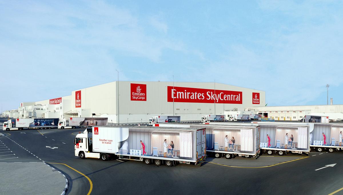 Emirates SkyCargo zet 's werelds grootste GDP-conforme luchtvrachthub in Dubai op voor wereldwijde distributie van Covid-19 vaccin