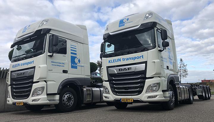 Vijftien nieuwe DAF XF 480 4x2 trekkers voor Kleijn Transport Alblasserdam