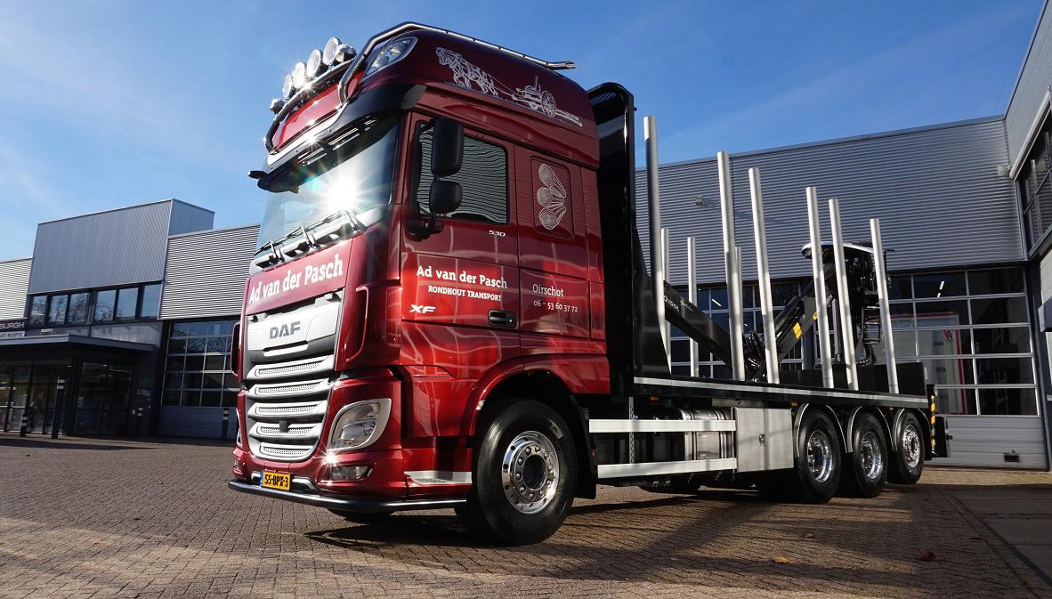 Nieuwe DAF 'uit het juiste hout gesneden' voor Ad van der Pasch Houttransport