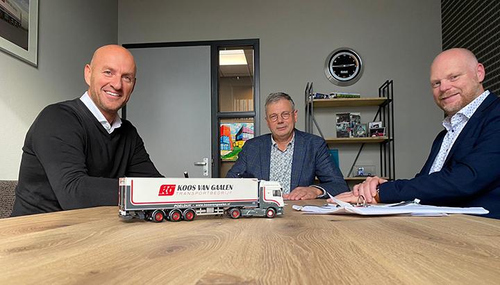 Koos van Gaalen plaatst na zes nieuwe DAF's een nieuwe order bij DAF