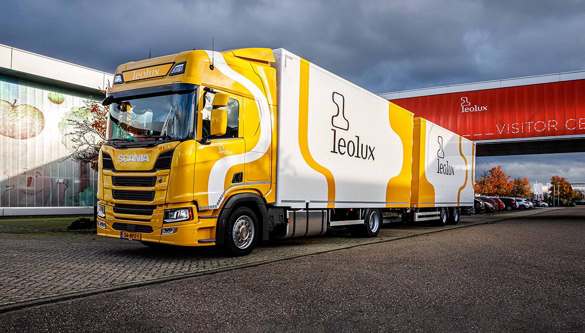 Nieuwe Scania R410 4x2 voor Leolux