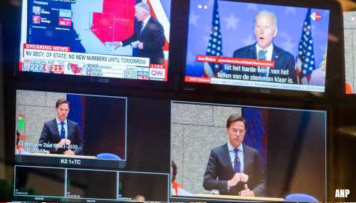 Rutte feliciteert Biden en Harris met verkiezingswinst