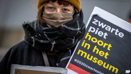 Actie tegen Zwarte Piet op het Museumplein in Venlo