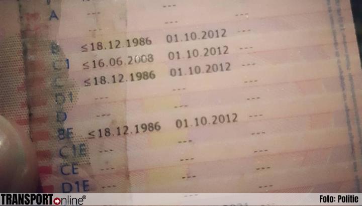 'Bijklussende' chauffeur zonder rijbewijs, code 95 en op chauffeurskaart zoon onderweg [+foto's]