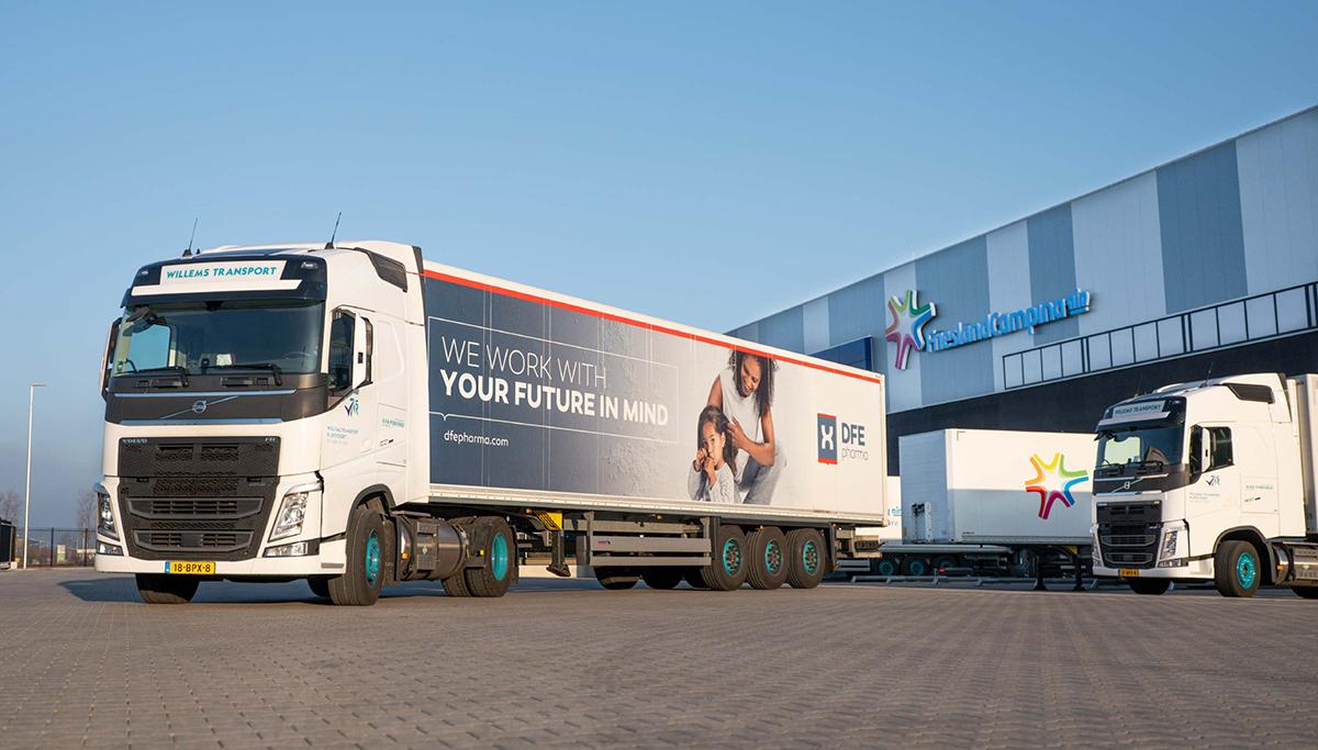 Twee nieuwe Volvo FH 460 LNG trekkers voor Willems Transport Rijkevoort