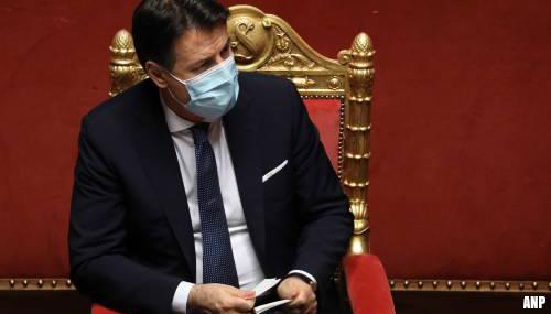 Italiaanse premier Giuseppe Conte kondigt ontslag aan