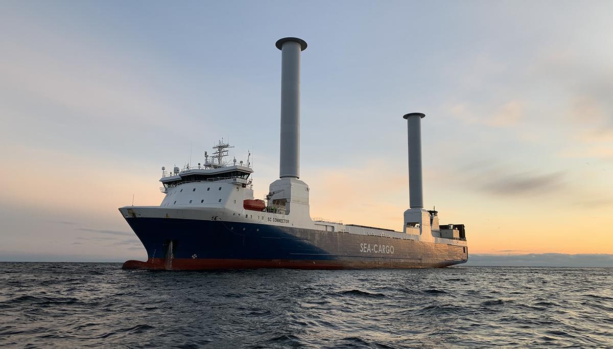 Modern zeilschip voor vrachtvervoer 'SC Connector' arriveert dinsdag in Rotterdam