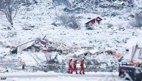 Dodental na aardverschuiving Noorwegen loopt verder op