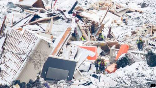 'Weer aardverschuiving bij Noors dorp, zoeken tijdelijk gestaakt'