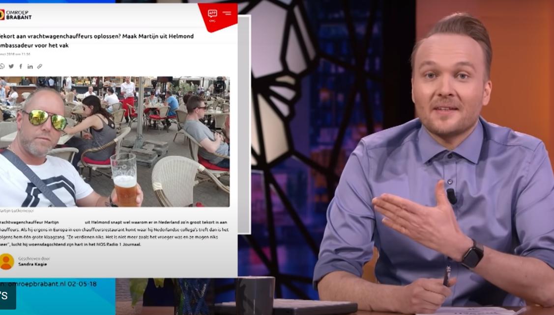 'Trucker Martijn' vond Zondag met Lubach 'voor het eerst grappig' [+video]