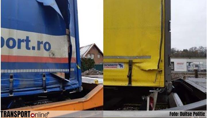 Meerdere zeilen van trailers op trein kapotgesneden en goederen gestolen [+foto's]
