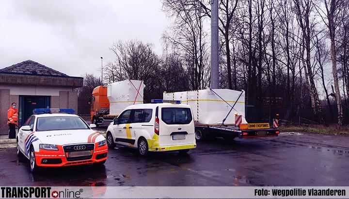 Opnieuw veel ladingzekering overtredingen tijdens transportcontrole in België