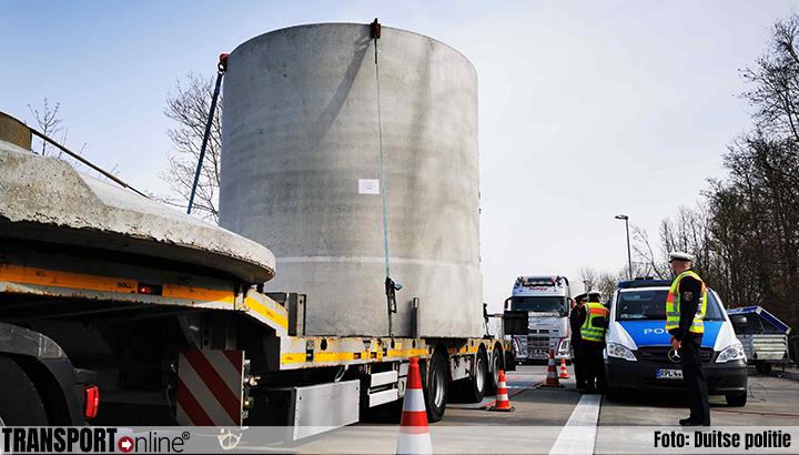 Twintig van de 244 gewogen vrachtwagens bij Duitse controle te zwaar [+foto's]