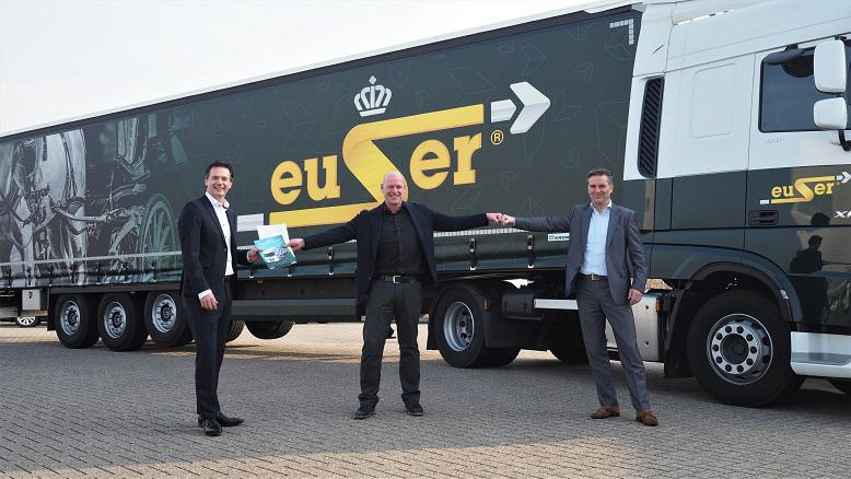 C. en H. Euser Transport in Barendrecht kiest voor twee DAF CF Electric vrachtwagen