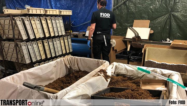 Meerdere illegale sigarettenfabrieken opgerold