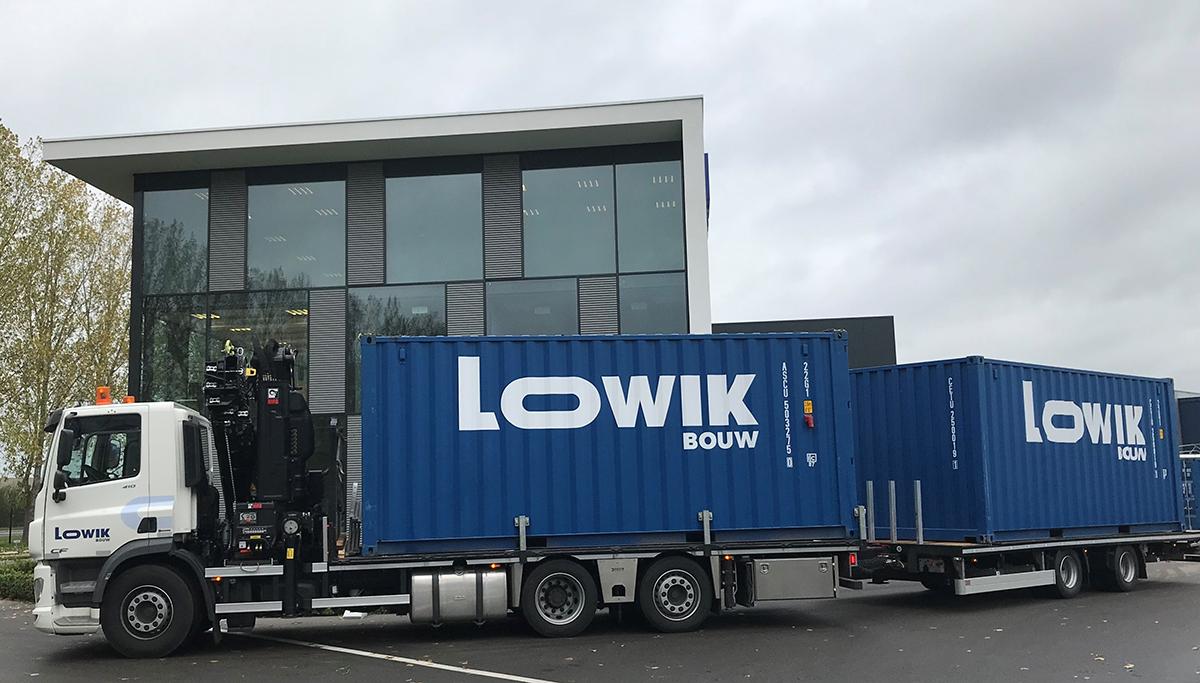 Nieuwe Pacton tweeassige middenasaanhangwagen voor Lowik Bouw