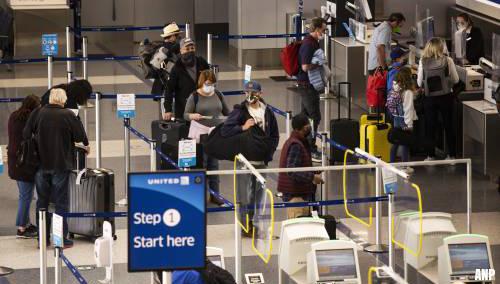 Hoogste aantal passagiers op luchthavens VS sinds maart 2020