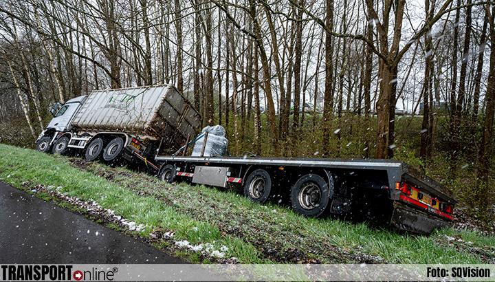 Vrachtwagencombinatie van de weg langs A59 [+foto]