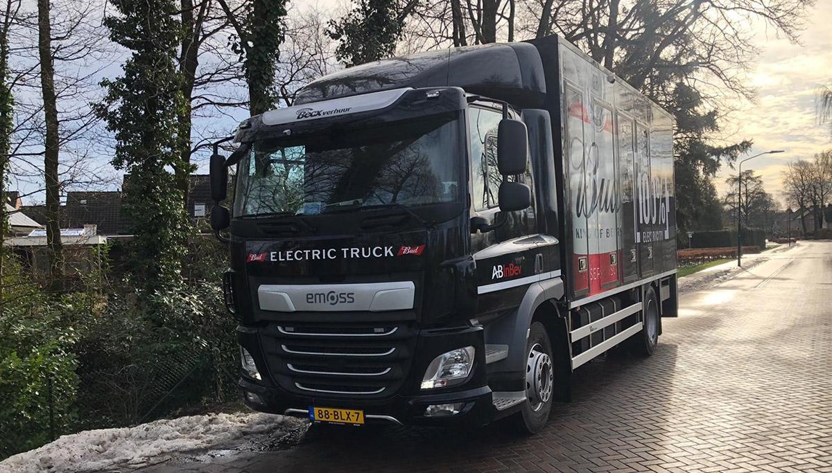 Brouwer AB InBev neemt eerste elektrische vrachtwagen in gebruik