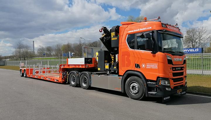 Transportbedrijf Bosch Hedel BV breidt uit met een nieuwe Faymonville pendelas-dieplader