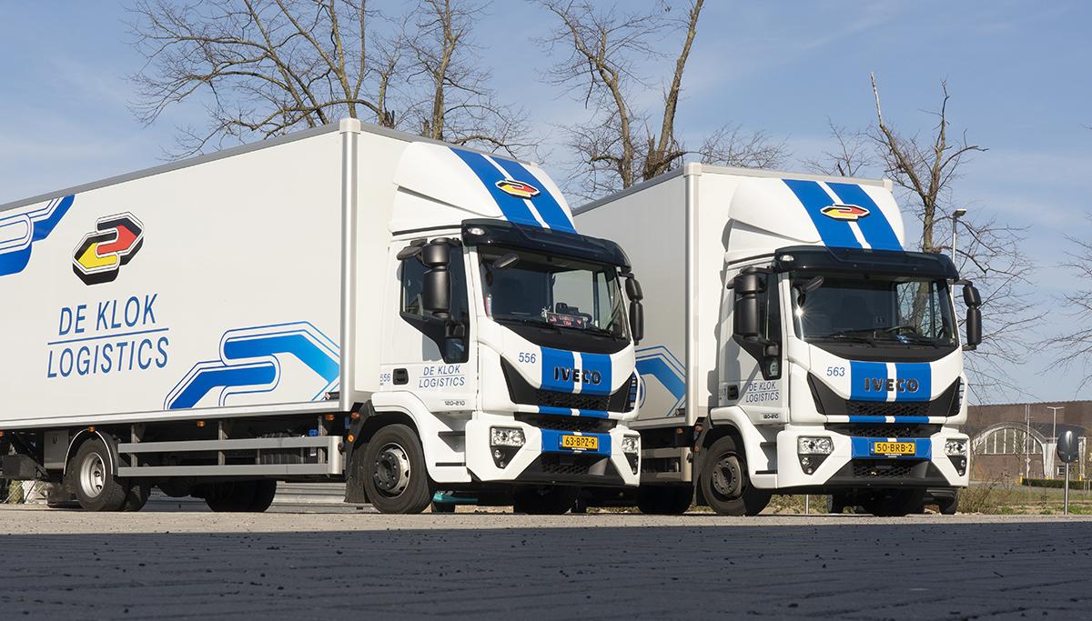 De Klok Logistics schaft 25 nieuwe IVECO-bakwagens aan