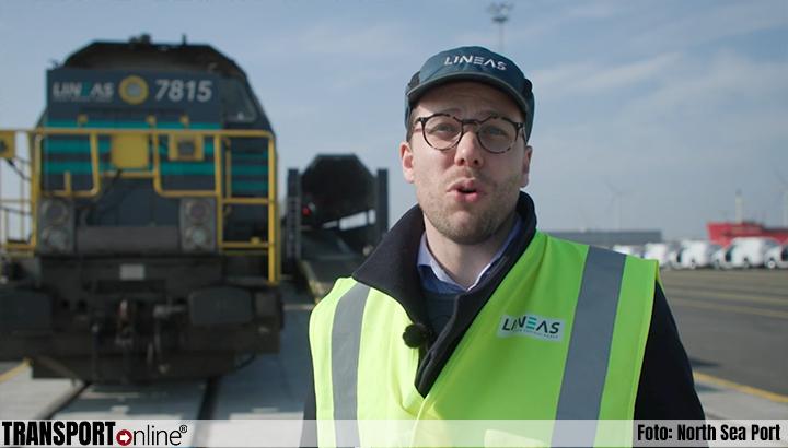 Kijkje in de haven: Lineas vervoert Volvo's per spoor