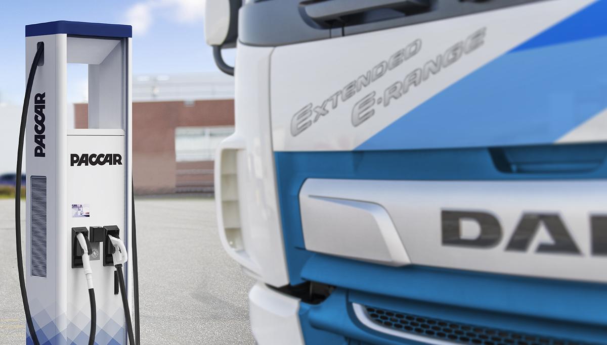 DAF introduceert laadstations voor elektrische voertuigen
