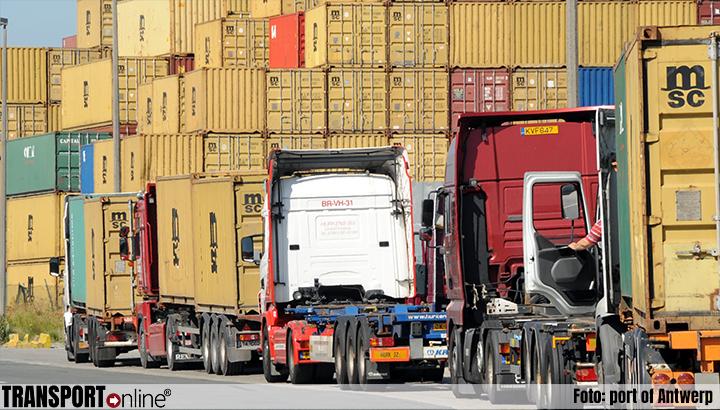 Nieuwe vrachtwagenparkeerplaats Ketenis in Antwerpse haven