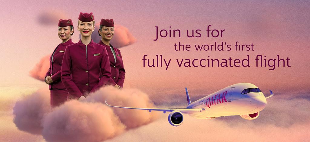 Qatar Airways voert eerste volledig gevaccineerde vlucht ter wereld uit