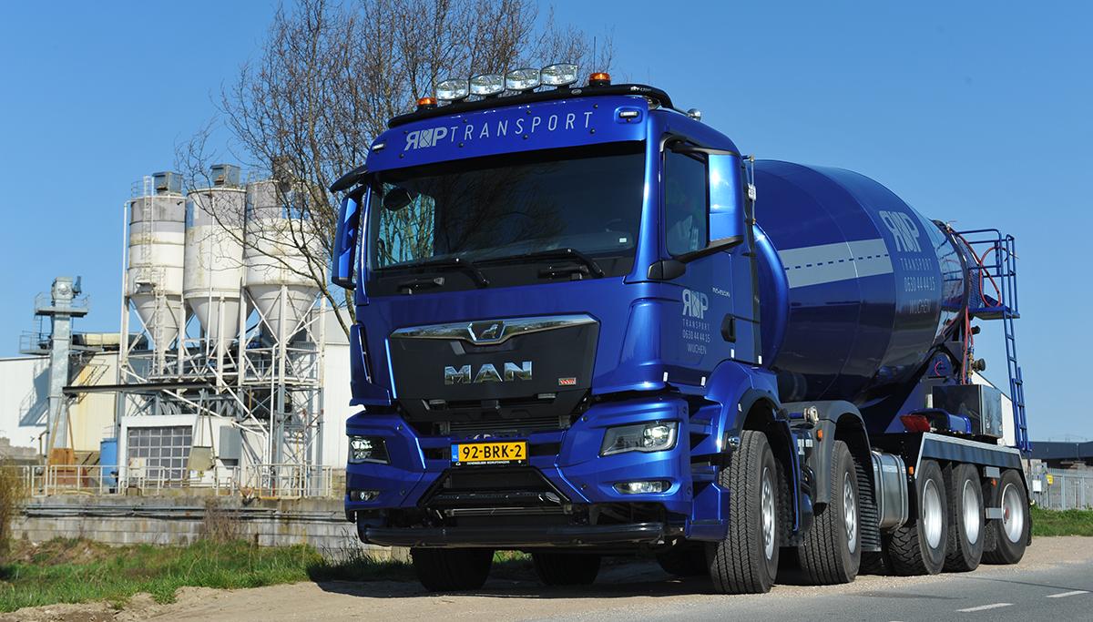 R&P Transport met nieuwe MAN TGS klaar voor elke betonmixer-klus