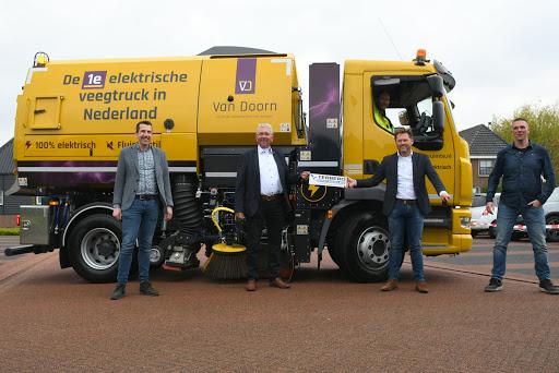 Van Doorn heeft de eerste 100 procent elektrische veegwagen van Nederland