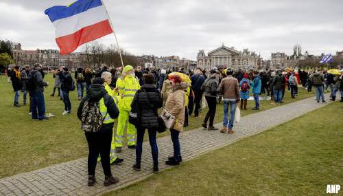 Demonstratie op Museumplein rustig verlopen