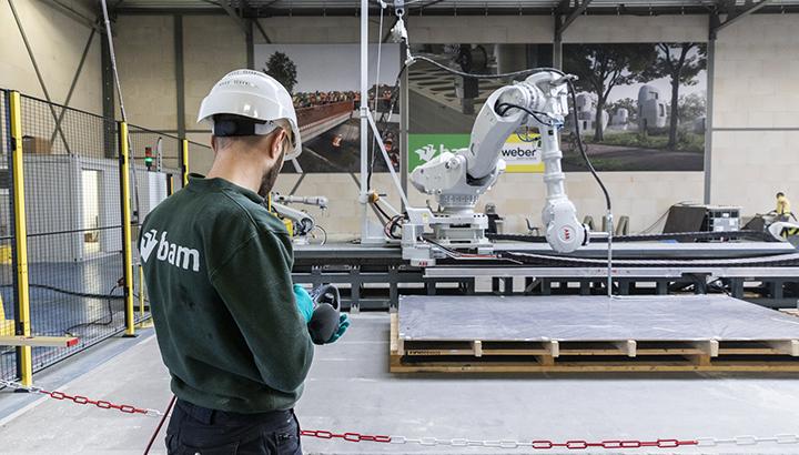 BAM Infra Nederland verkoopt aandeel 3D-betonprintfabriek aan Weber Beamix