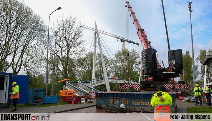 Weghalen door 'Bodensee' aangevaren brugdeel Groningen van start [+foto&video]