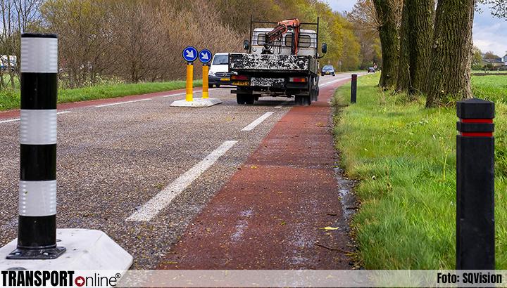 Ophef ontstaan over levensgevaarlijke wegversmalling in Heesch [+foto]