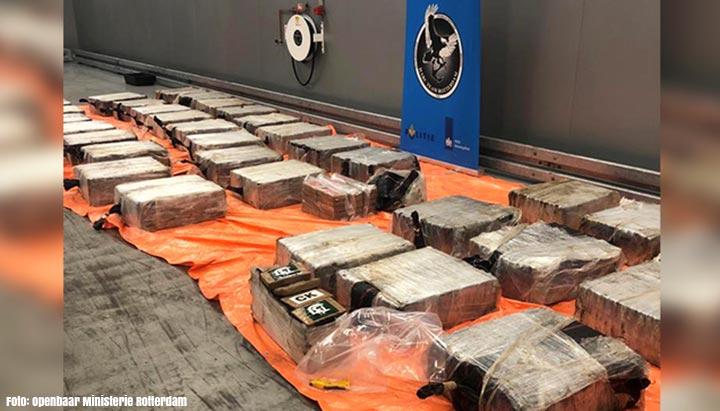 Douane Rotterdam onderschept 2773 kilo cocaïne, zeven aanhoudingen