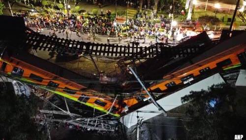 Doden en gewonden door instorten metroviaduct in Mexico-Stad