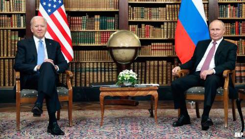 Biden en Poetin binnen twee uur klaar met onderling overleg