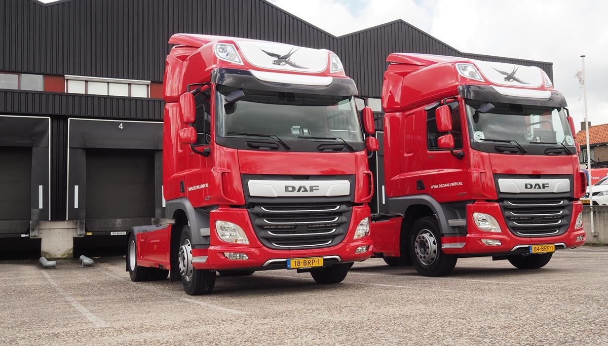 De Zwaluw Logistiek investeert in stille en zuinige DAF's