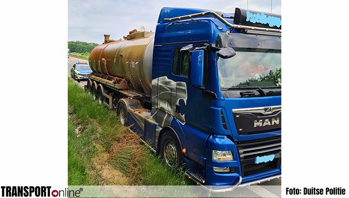 Drukventiel tankwagen barst, daar zit een luchtje aan [+foto]