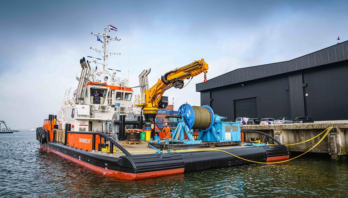 Hendrik Veder Group voorziet nieuwe Shoalbuster 3514 van Herman Sr van kabels en hijsmiddelen