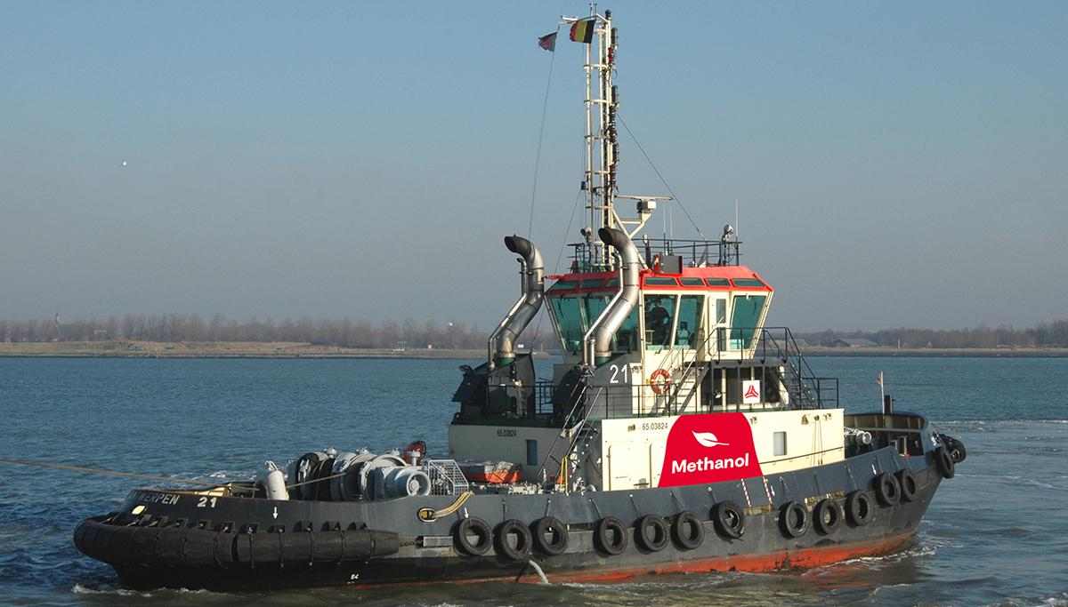 Methanol aangedreven sleepboot voor haven van Antwerpen