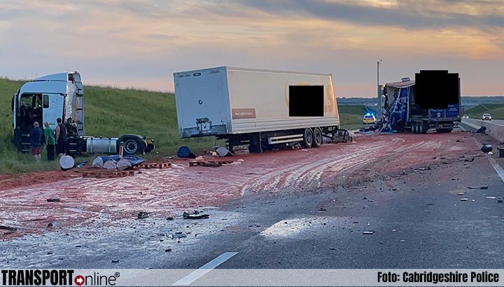 'Horror' crash op Britse A14 [+foto's]